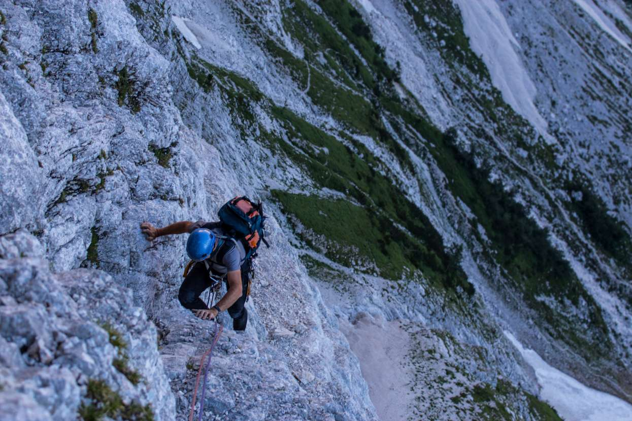 Climbing Triglav North Face
