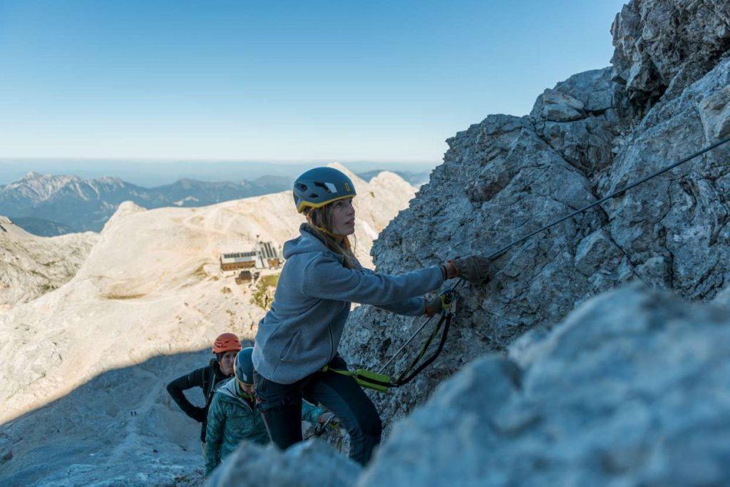Climbing Triglav from Kredarica