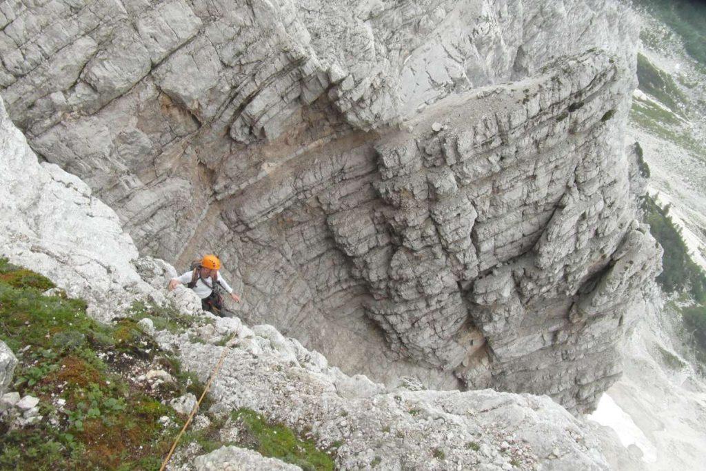 Climbing the Triglav north face