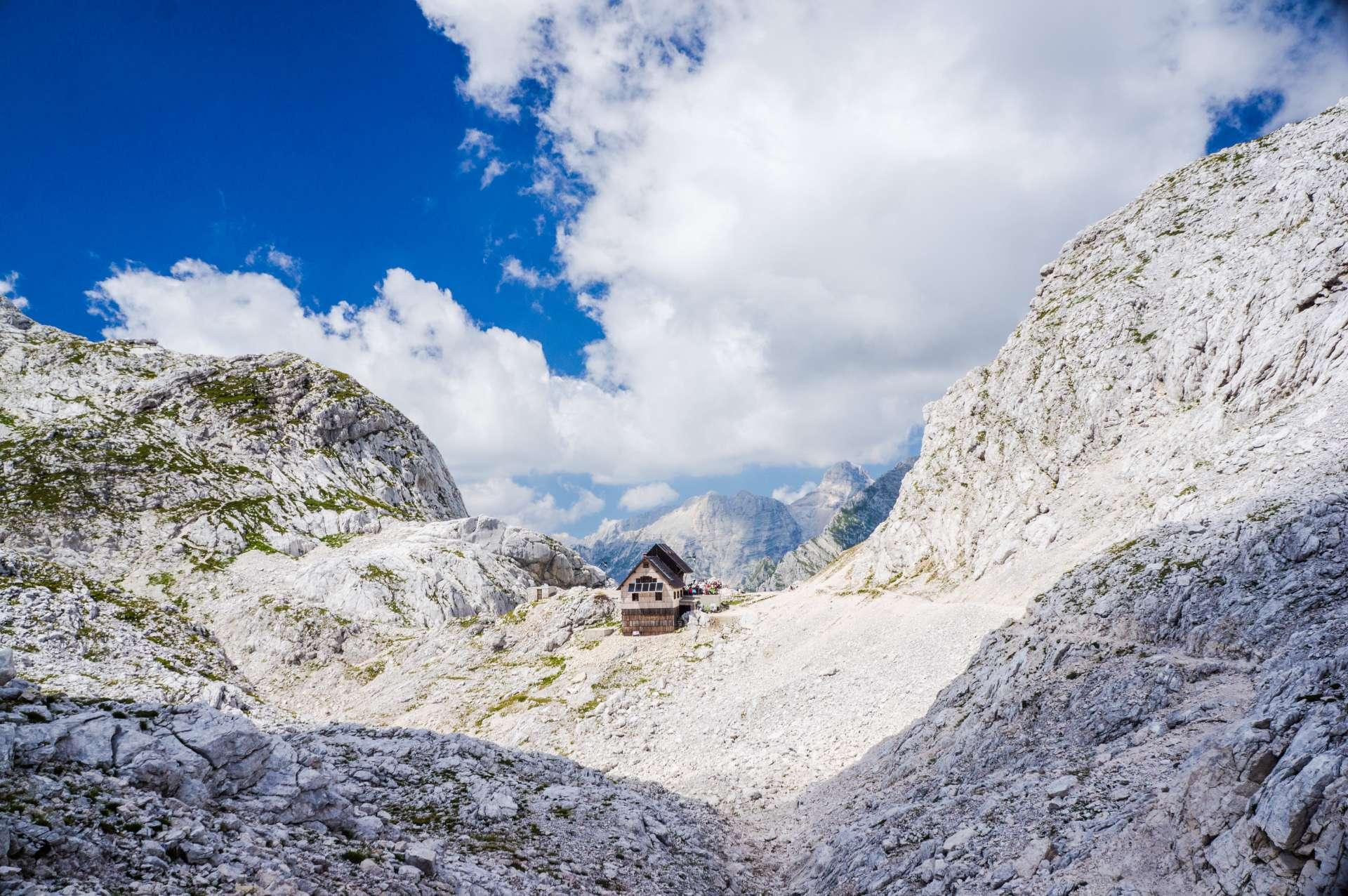 Dolič hut above Zadnjica valley
