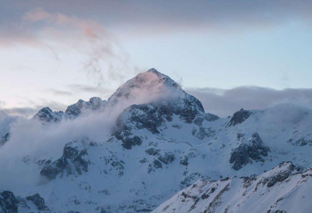 Evening view on Triglav mountain