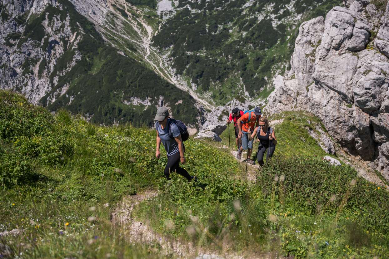 Hikers on the way to Viševnik