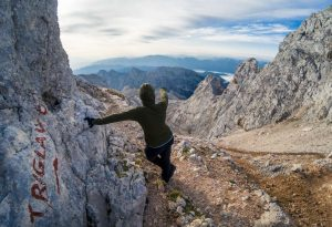 On the way to Triglav summit