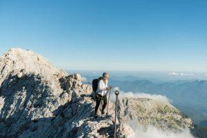 Safe climbing on Triglav