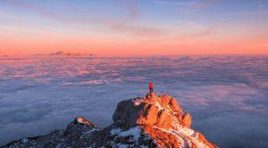 Summit of Viševnik above the fog
