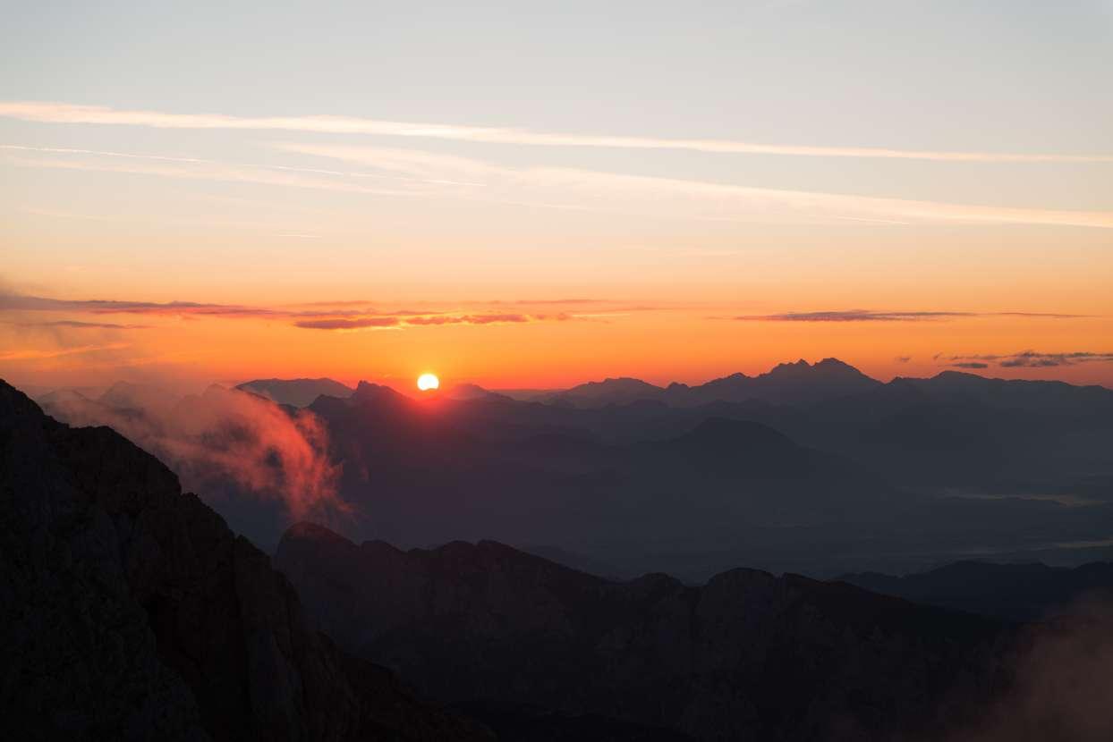 Sunrise from Kredarica