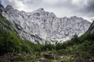 The north face of Triglav from Vrata Valley