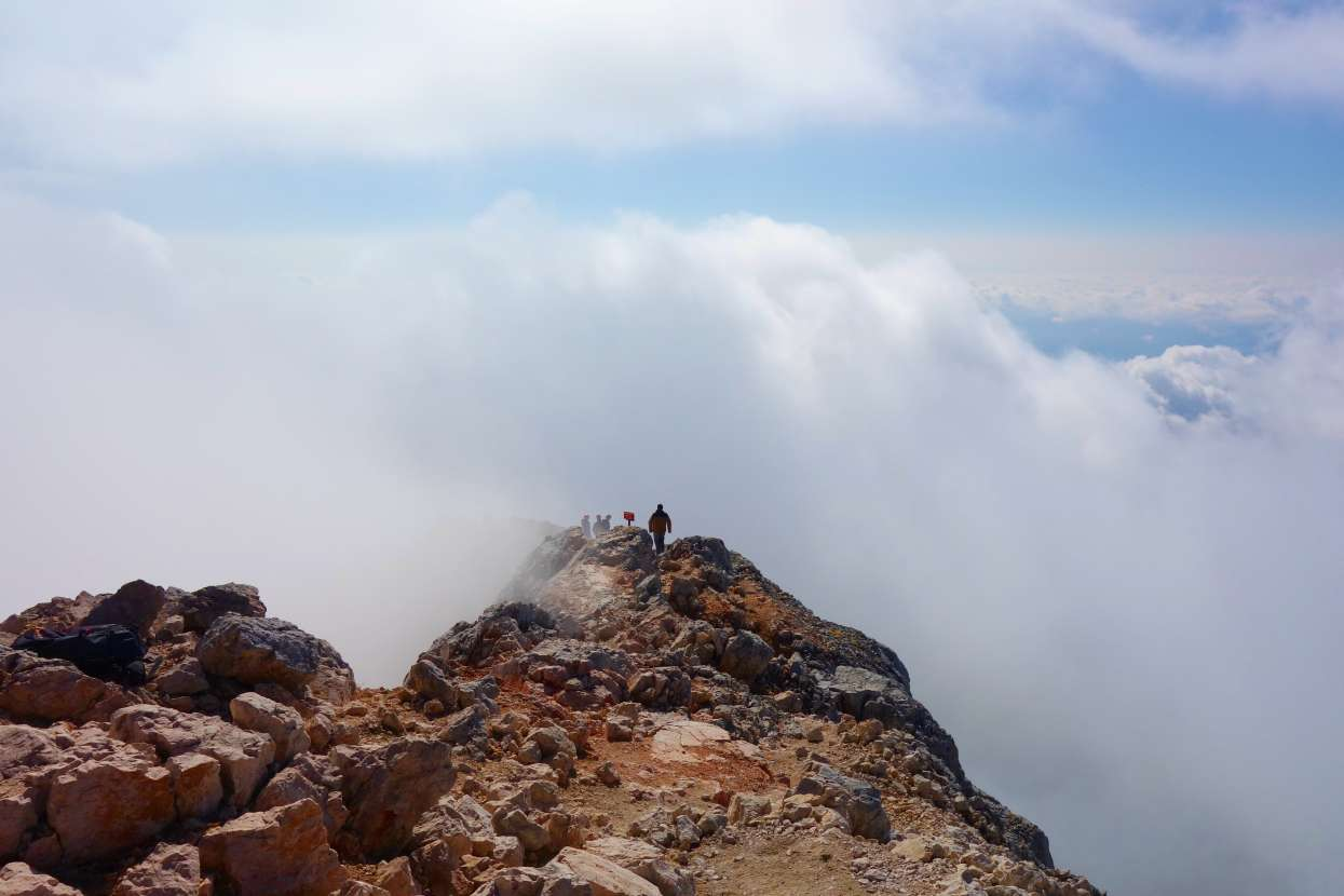 The top of Triglav out of fog