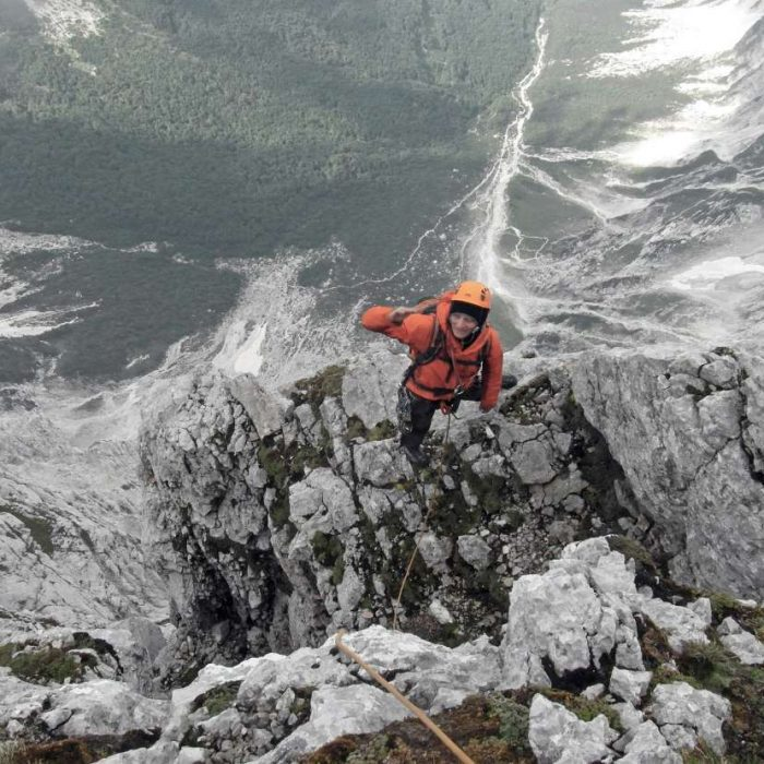 Topping out Triglav north face