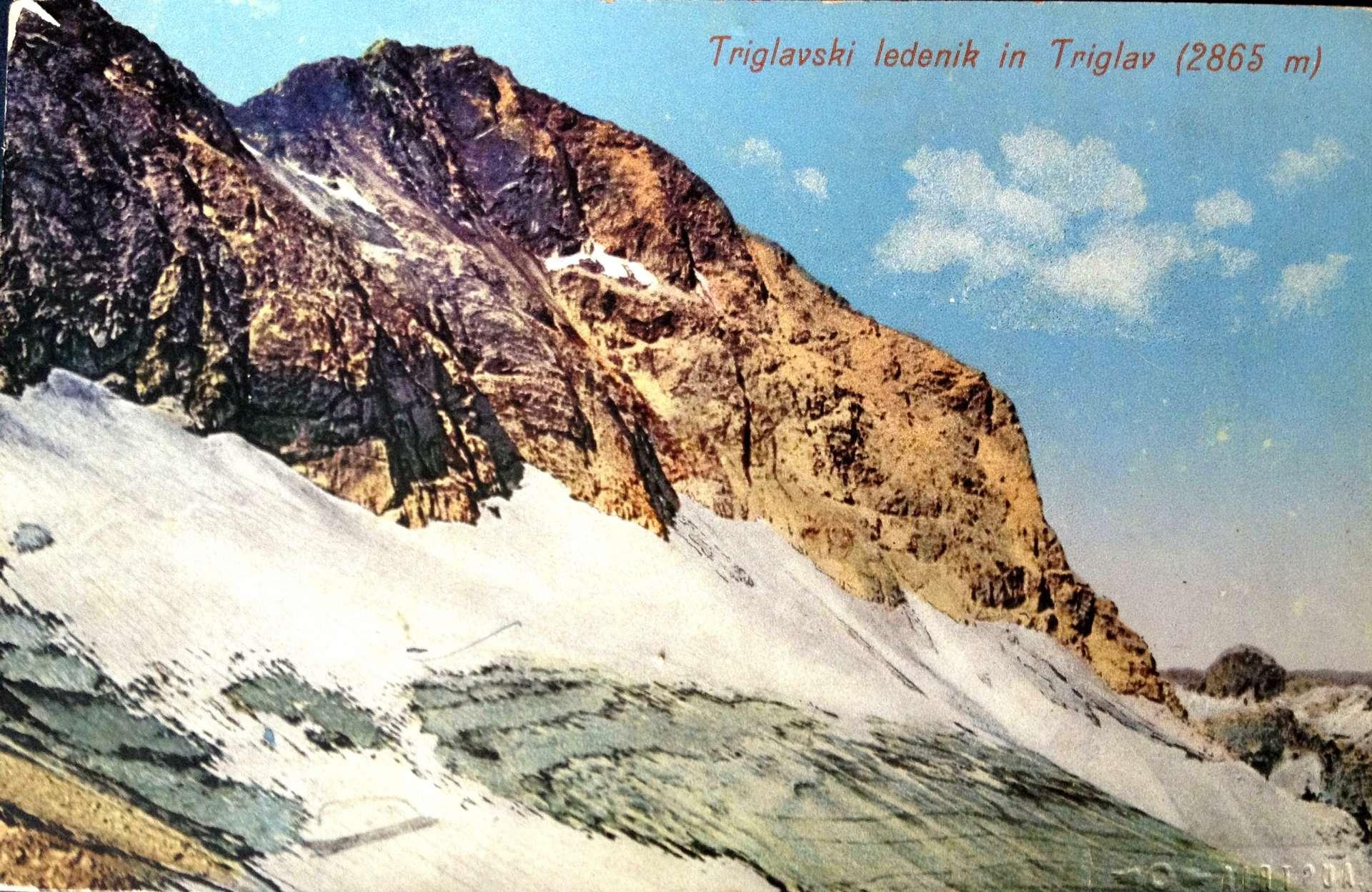 Triglav Glacier in 1905, photo by Fran Pavlin