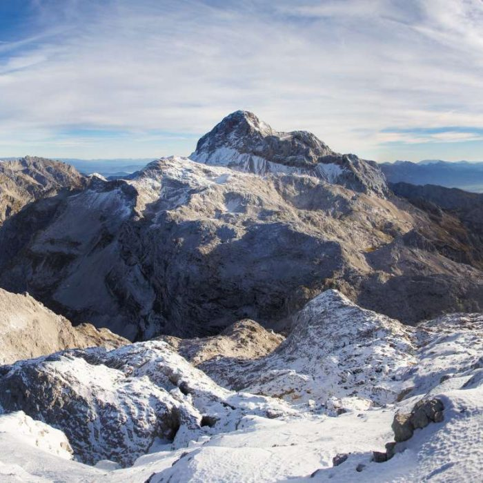 View of Triglav from Mt. Kanjavec