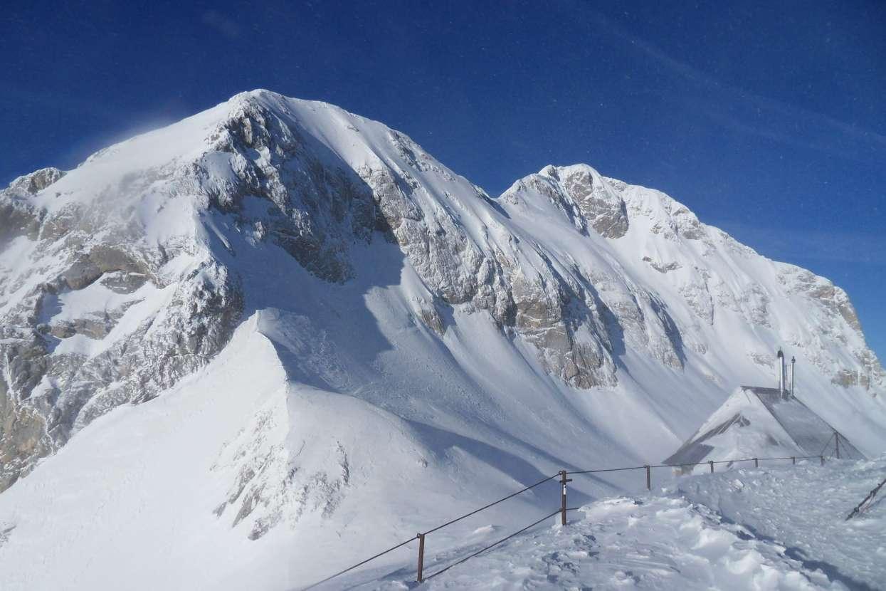 View of Triglav summit from Kredarica