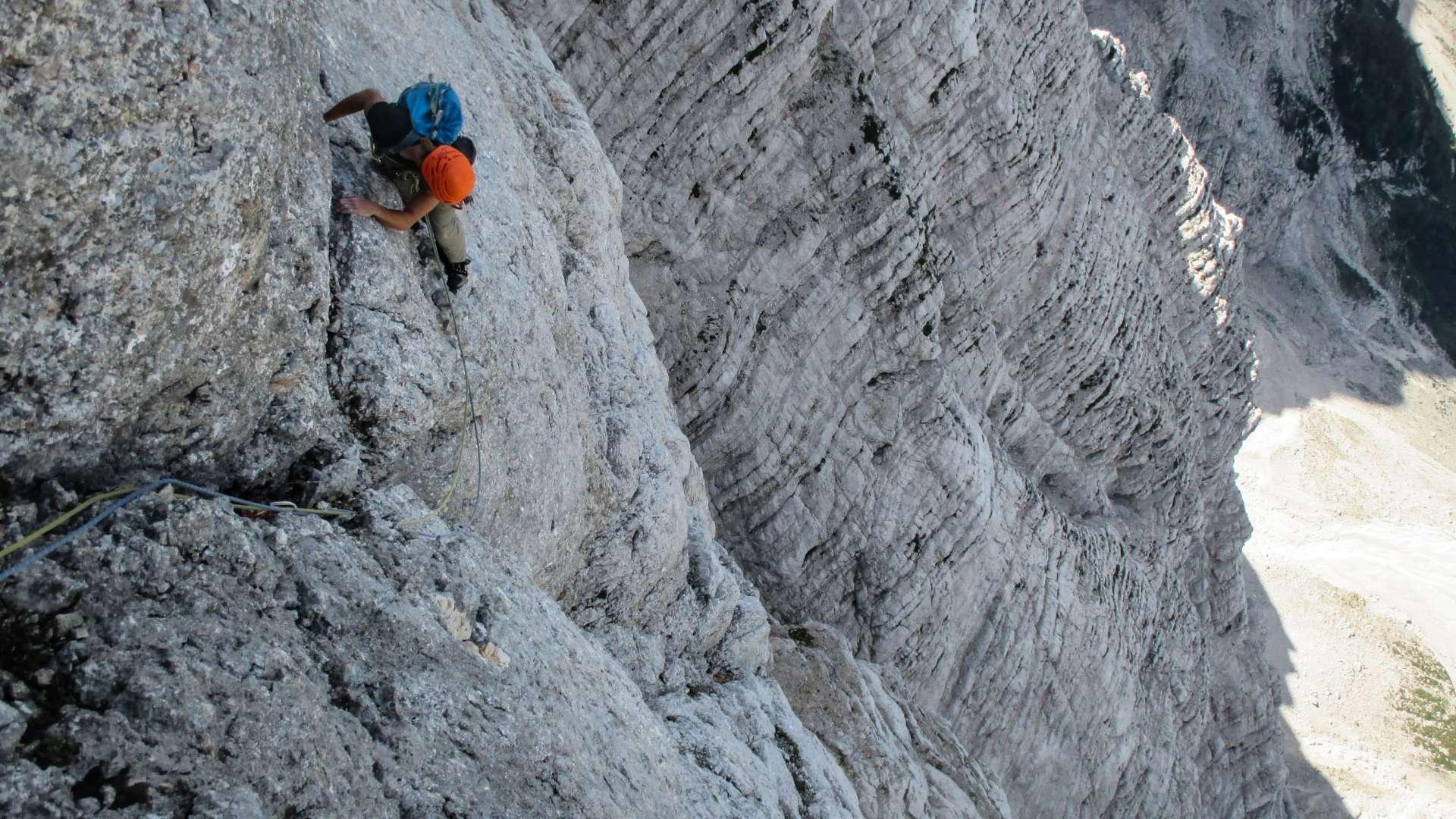 Climbing the Čop Pillar