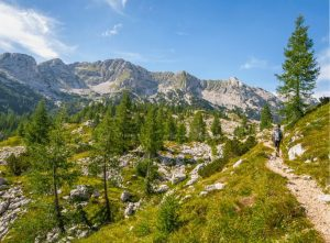 Hiking in the upper Triglav lakes valley