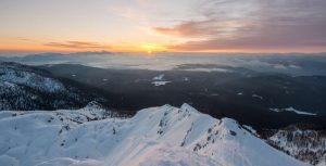 sunrise from Viševnik in winter